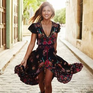 Dresses & Skirts - Boho Maxi Floral Dress -HOST PICK-